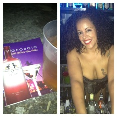 Shout out to black owned Vodka company V Georgio and the owner's gorgeous daughter (not pictured).