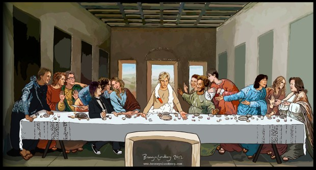 The Lesbian Last Supper. Source: http://bronwynlundberg.com