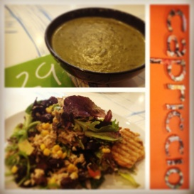 Capriccio - Cream of Spinach Soup and Italian Tonno Salad