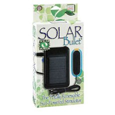 Yes there is a solar powered bullet for the tree hugging lezzie in your life. $34 at babeland
