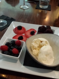 Assorted Fruit with Ice Cream