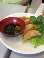 GYOZA Asian Peruvian dumplings, served with Peruvian style ponzu