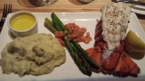 8 OZ COLD WATER MAINE LOBSTER TAIL Whipped yukon mashed potatoes, asparagus