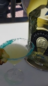 Di'Spicy Rita - Herradura Tequila combined with jalapeno puree, Cointreau, pineapple juice, lemon/lime sour mix, simple syrup and the frothiness of egg whites.