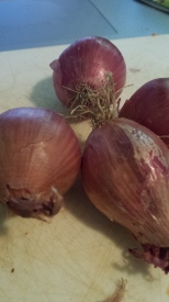 Shallots (or onions if you have some in the fridge already)