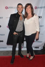 Actor Wilson Cruz (See I didn't call him Juanito... or Rickie) and Outfest Executive Director Kirsten Schaffer