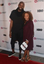 Director/writer Patrik-Ian Polk and actress Rachel True. Hey Mona! (Half & Half)