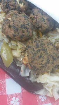 Feta and Spinach Stuffed Turkey Meatballs