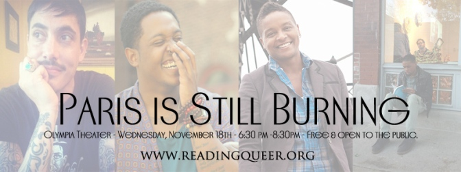 "Mark Your Calendars (11/18/15):  Reading Queer & Miami Book Fair present ""Paris Is Still Burning"""